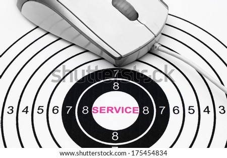 Web service target concept - stock photo