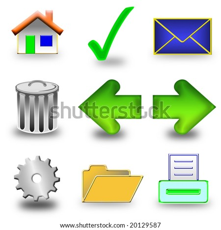 Web set of icons to use any website