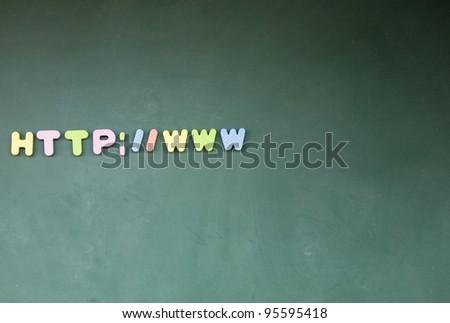 web sign - stock photo