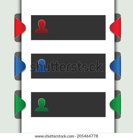 web template - webpage, website layout - stock photo