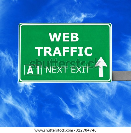 WEB TRAFFIC road sign against clear blue sky - stock photo