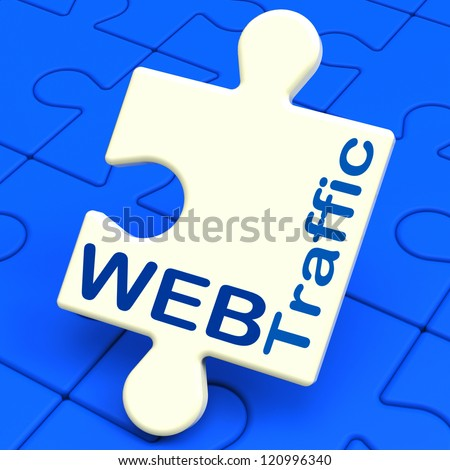 Web Traffic Showing Visitors And Hits To Website - stock photo
