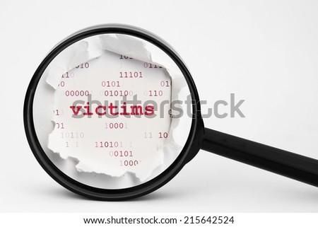 Web victims concept - stock photo