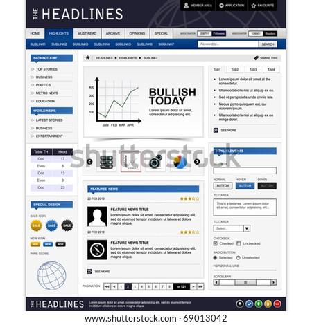 Web Website Design Element Template - stock photo