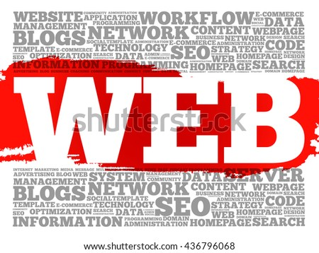 WEB word cloud, business concept - stock photo