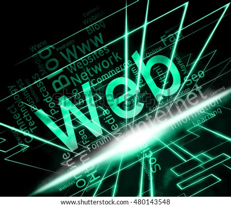 Web Word Meaning Internet Network And Websites
