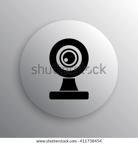 Webcam icon. Internet button on white background.
