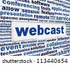 Webcast poster design. New internet technology message background - stock photo