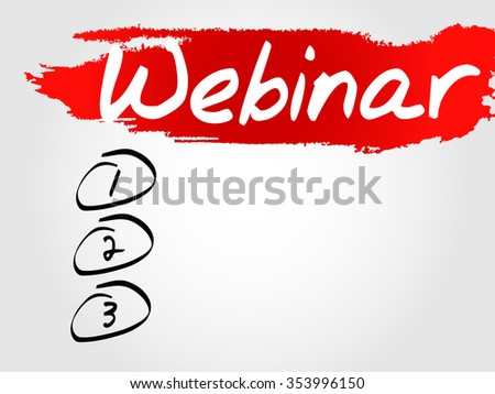 Webinar Blank List concept background - stock photo