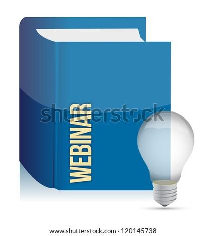 webinar book illustration design over a white background design - stock photo