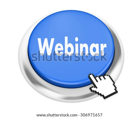 webinar button on isolate white background