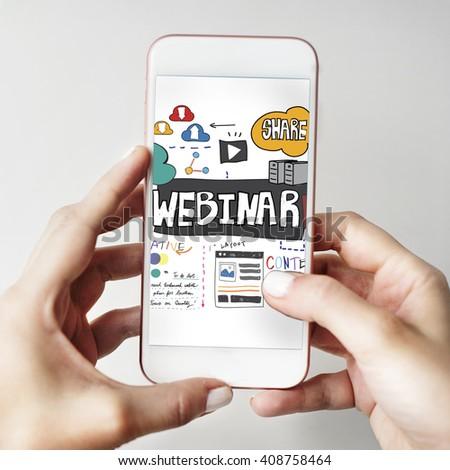 Webinar Innovation Web Design Technology Concept - stock photo