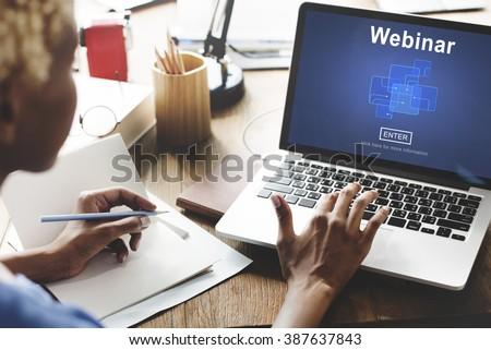 Webinar Online Internet Website Web Page Stock Photo 387637843 ...