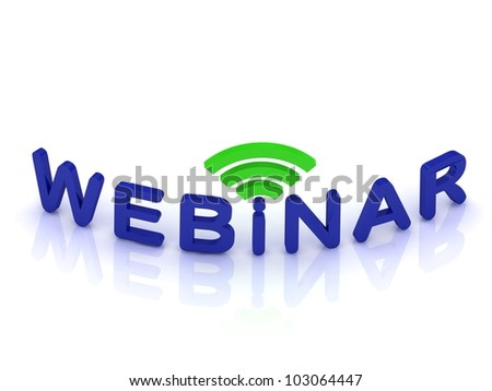 webinar sign on white background