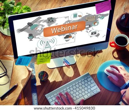 Webinar Technology Online Web Worldcloud Concept - stock photo