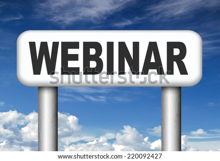 webinar video chat online conference or meeting internet work shop