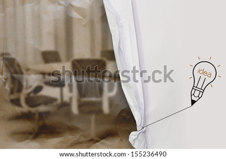 Webinar with crumpled paper background as concept - stock photo