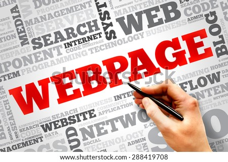 Webpage word cloud, business concept - stock photo