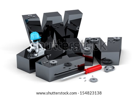 Website building concept. Isolated on white background - stock photo