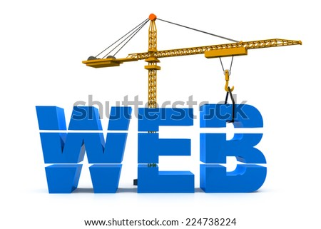 Website construction - stock photo