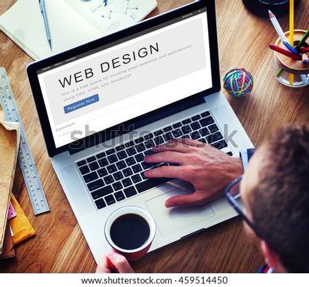 Website Design Homepage Layout Creativity Concept - stock photo