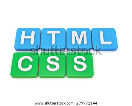Website development tools HTML CSS - stock photo