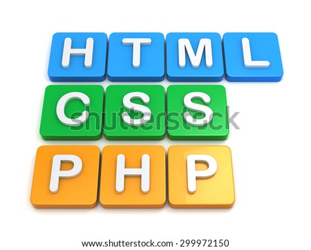 Website development tools HTML CSS PHP