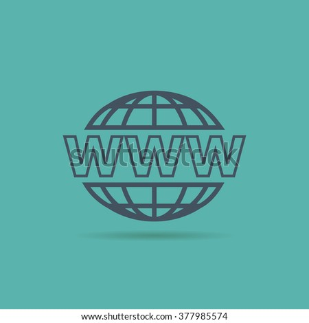 Website Icon. www sign - stock photo