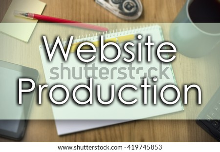 Website Production - business concept with text - horizontal image
