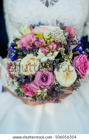 wedding accessories and flowers