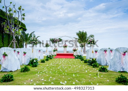 Wedding aisle stock images royalty free images vectors wedding aisle for wedding ceremony at the beach junglespirit Image collections