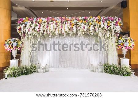 Wedding backdrop flower wedding decoration beautiful flowers stock wedding backdrop with flower and wedding decorationautiful flowers background for wedding day junglespirit Gallery