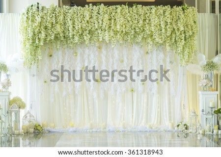 Wedding Backdrop With Flower Decoration