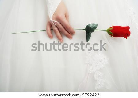 Wedding background: A couple on their wedding day - stock photo