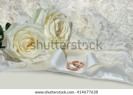 wedding background. love background with textile texture and rose