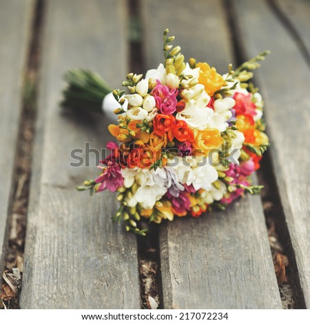 Wedding bouquet. Bride's flowers   - stock photo