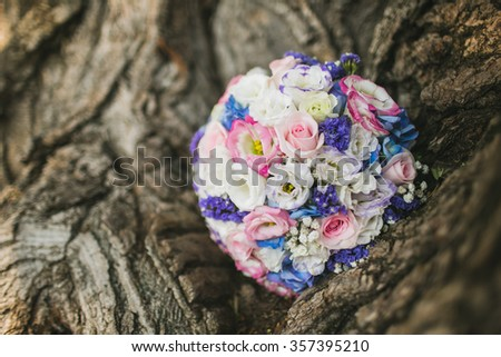 wedding bouquet flowers - stock photo