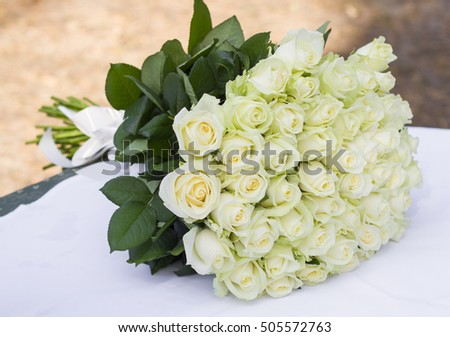 wedding bouquet for the bride made of flowers roses
