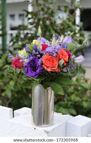 Wedding bouquet in a modern and bright style. - stock photo