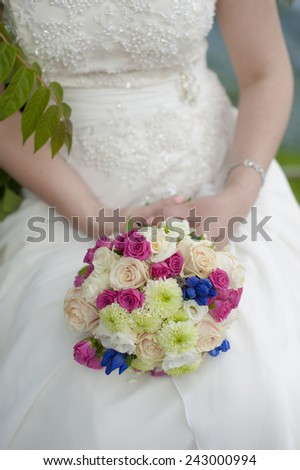 wedding bouquet of beautiful flowers