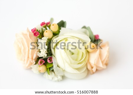 wedding bouquet on a white background