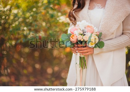 Wedding Bouquet rustic - stock photo