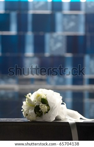 wedding bouquet white flower - stock photo