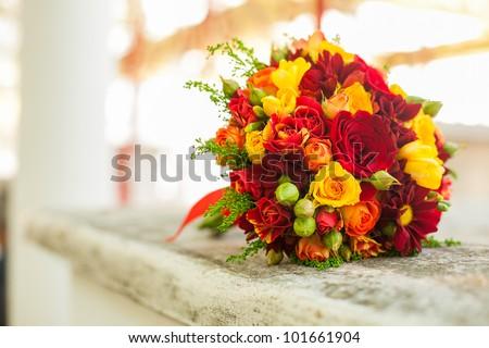 wedding bouquets - stock photo