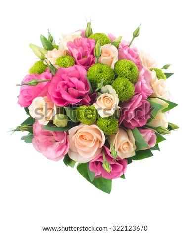 Wedding bridal bouquet. Series photos. - stock photo