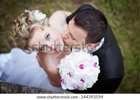 wedding bride groom  - stock photo