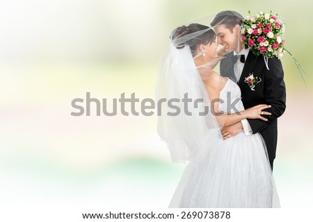 Wedding, Bride, Groom. - stock photo