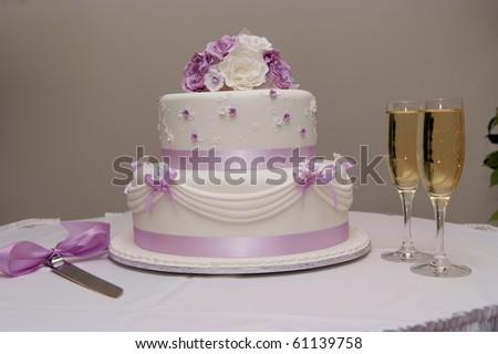 Wedding cake. - stock photo