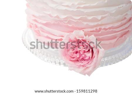 Wedding Cake on a White Background - stock photo