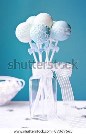 Wedding cake pops - stock photo
